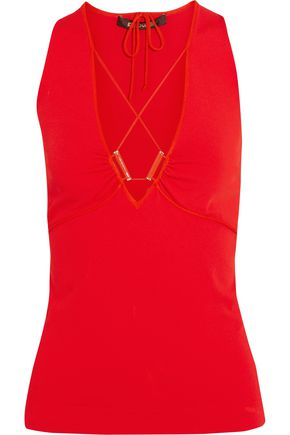 ROBERTO CAVALLI Lace-up stretch-jersey top