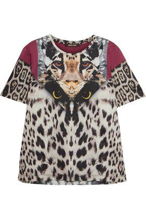 ROBERTO CAVALLI Printed cotton-jersey T-shirt