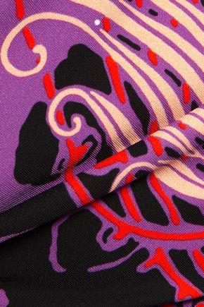 ROBERTO CAVALLI Printed stretch-crepe top