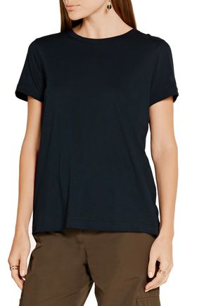 HELMUT LANG Open-back cotton and cashmere-blend jersey T-shirt