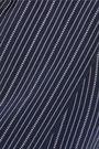 ROBERTO CAVALLI Pleated pinstriped silk-blend shorts