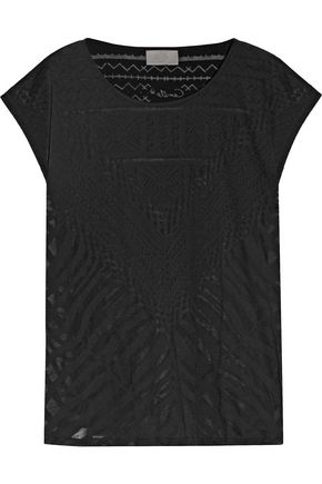 CAMILLA Animal Africa burnout cotton-blend jersey T-shirt