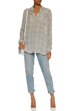 GANNI Floral-print georgette shirt