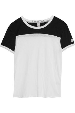 0df0402b Supima cotton and modal-blend T-shirt | TODD SNYDER + CHAMPION ...