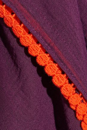 HEIDI KLUM SWIM Wanderlust picot-trimmed cotton-gauze coverup