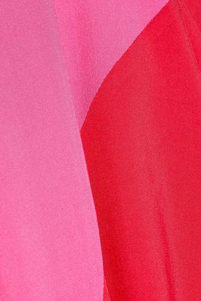 HEIDI KLUM SWIM Tamarin Sands two-tone picot-trimmed cady coverup