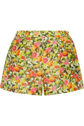 STELLA McCARTNEY Printed cotton and silk-blend shorts