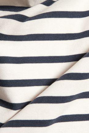 GANNI Striped cotton top