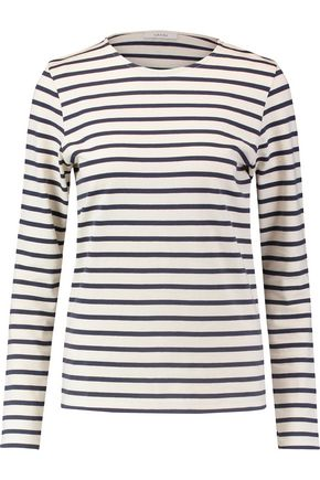 GANNI Striped cotton top