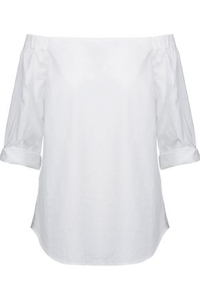TART COLLECTIONS Autry off-the-shoulder cotton-poplin top