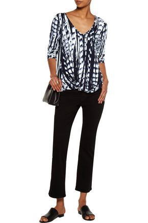 TART COLLECTIONS Chase twist-front printed stretch-modal top