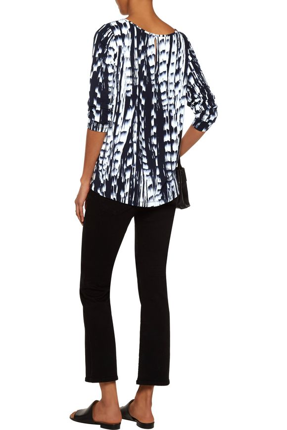 Chase twist-front printed stretch-modal top | TART COLLECTIONS | Sale up to  70% off | THE OUTNET
