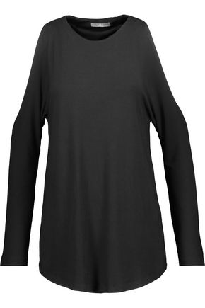 TART COLLECTIONS Giza cold-shoulder stretch-modal top
