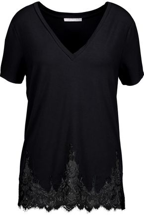 TART Daryl lace-trimmed stretch-modal jersey top