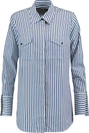 8 Striped cotton-poplin shirt