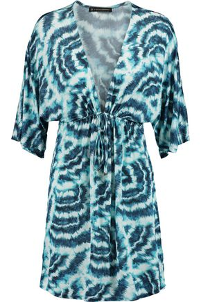 VIX PAULA HERMANNY Printed stretch-jersey mini dress