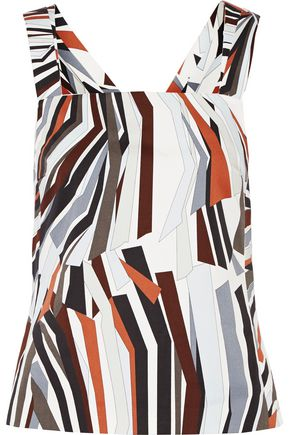 EMILIO PUCCI Printed stretch-cotton top