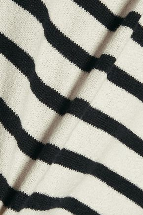 A.P.C. Striped cotton-crepe sweater