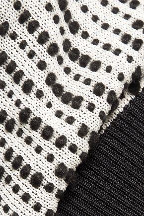 ROLAND MOURET Everatt mesh-paneled textured-knit top