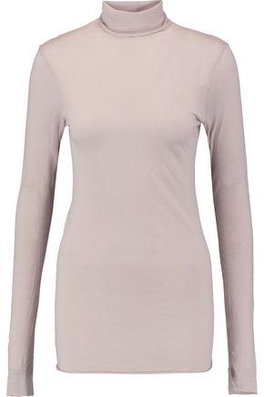 ENZA COSTA Pima cotton-jersey turtleneck top