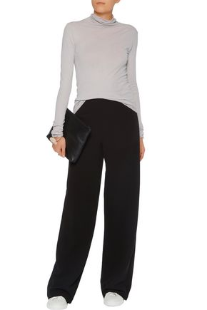 ENZA COSTA Pima cotton-jersey turtleneck top