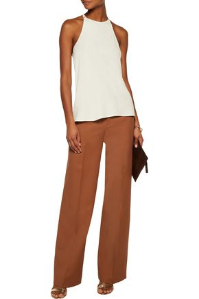HALSTON HERITAGE Embellished stretch-jersey top