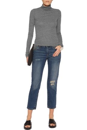 ENZA COSTA Stretch-jersey turtleneck top