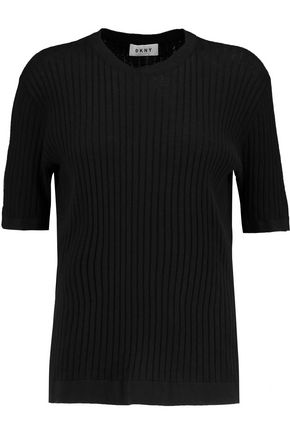 DKNY Ribbed cotton-jersey top