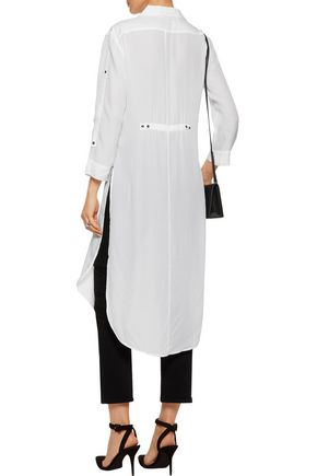 HALSTON HERITAGE Split broadcloth tunic