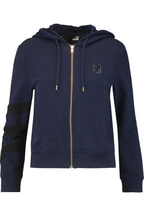 LOVE MOSCHINO Cotton-blend hooded top