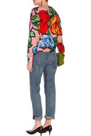 LOVE MOSCHINO Printed cotton-blend jersey sweatshirt