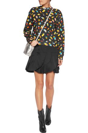 LOVE MOSCHINO Printed cotton-blend jersey sweatshirt