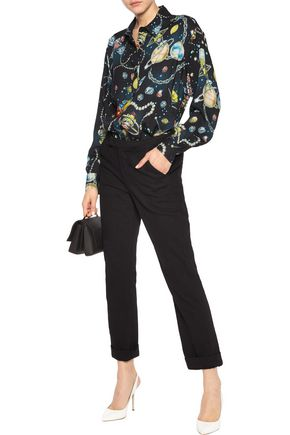 LOVE MOSCHINO Printed crepe shirt