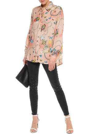 LOVE MOSCHINO Printed twill top