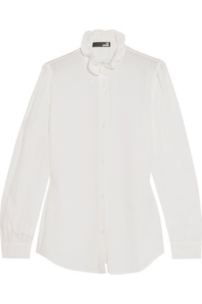 LOVE MOSCHINO Ruffled crepe blouse