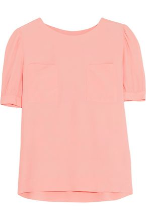 LOVE MOSCHINO Gathered crepe top
