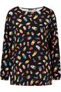 LOVE MOSCHINO Printed crepe top