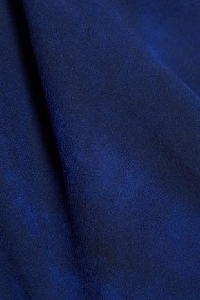 HAUTE HIPPIE Narcissus wrap-effect printed silk-georgette halterneck top