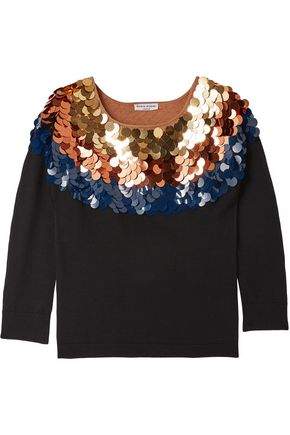 SONIA RYKIEL Sequin-embellished wool sweater