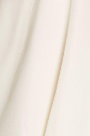 HAUTE HIPPIE Cold-shoulder silk crepe de chine top