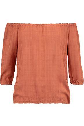 MONROW Off-the-shoulder muslin top