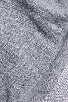 MONROW Lace-up slub jersey sweatshirt