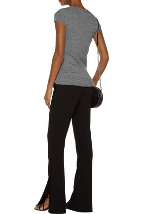 ENZA COSTA Ribbed stretch-jersey T-shirt