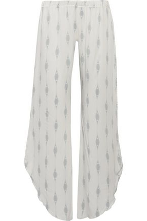 EBERJEY Voyeur Ananda printed satin wide-leg pants