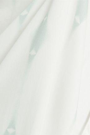 EBERJEY Voyeur Ophelia asymmetric printed satin coverup
