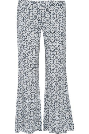 EBERJEY Under The Stars printed jersey pants