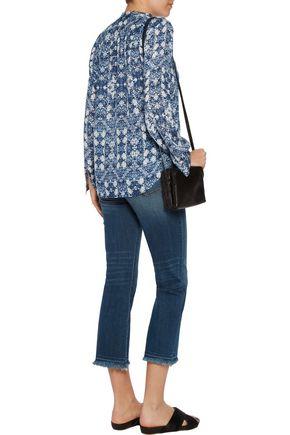 L'AGENCE Bianca printed silk blouse