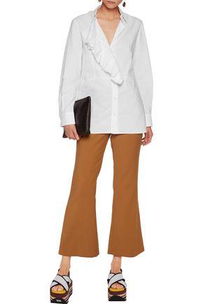 MARNI Ruffled cotton-poplin shirt