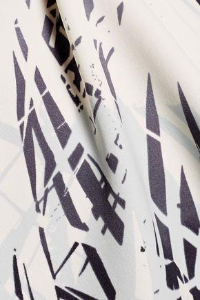 HALSTON HERITAGE Printed crepe de chine camisole