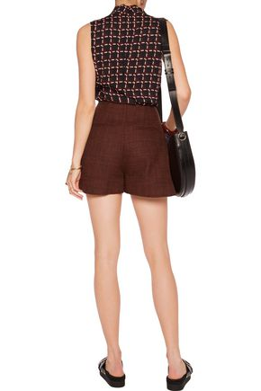 MARNI Wool-blend tweed shorts